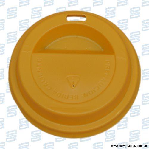 Tapa-plastica-domo-8oz-amarilla